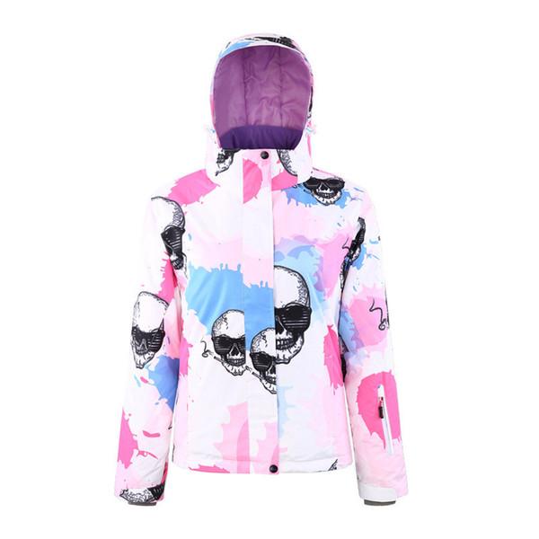 2019 Super Warm Women Skiing Jacket Snowboard Clothing Thicken Windproof Waterproof Outdoor Sport Wear Skiing Riding Climbing