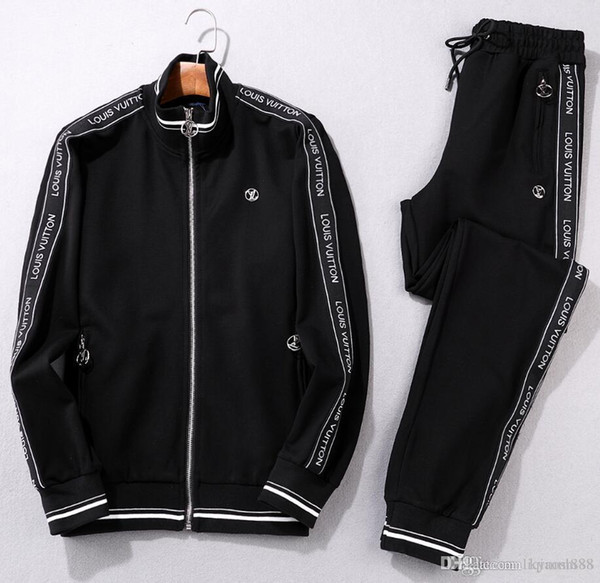 Men Sportswear Hoodie And Sweatshirts Black White Autumn Winter Jogger Sporting Suit Mens Sweat Suits Tracksuits Set Plus Size M-3XL#001