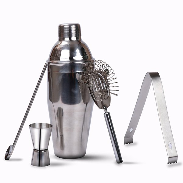 550 ML de aço inoxidável modulador de vinho conjunto de ferramentas de mistura de vinho quebrada barra de gelo shaker vinho Xue Ke copo filte de gelo