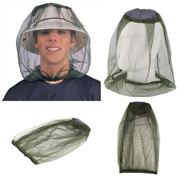 Free DHL Mosquito Cap Midge Fly Bug Insetto Cappello ape con rete a rete Testa Protezione per la faccia Cappello da pesca per campeggio esterna Escursionismo Caccia B121Q F