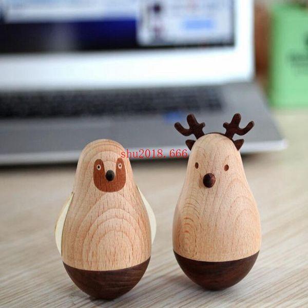 Бесплатная доставка 2019new Творческие деревянные ремесла стол украшения стола свинья маятник