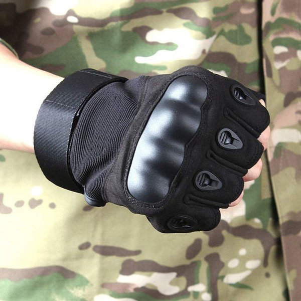 Hard Knuckle Gloves Half Finger Gloves for Men Fit for Cycling Motorcycle Hunting Shooting Hiking Tactical Gloves