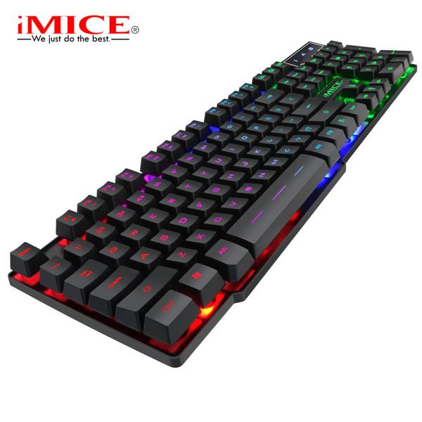 IMice AK 600 Wired Gaming Keyboard 104Key Mechanical RGB Backlit Keyboard  PC Gamer Computer For Laptop Teclado Gamer#40 Quiet Keyboard Quiet  Keyboards