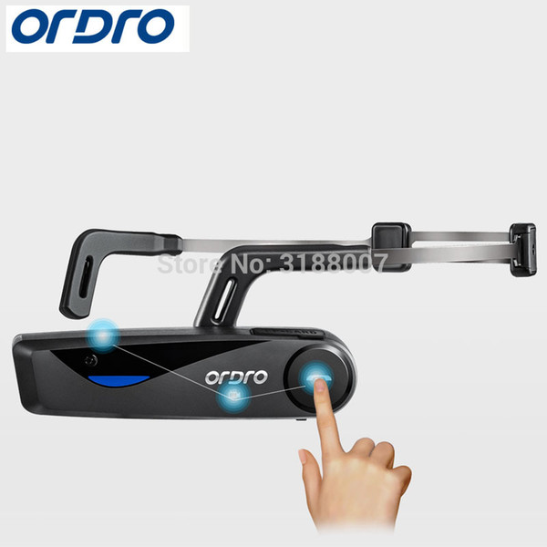 ORDRO Bluetooth 4 .0 Mão Cabeça Ação Livre Banda Mini DV filmadoras câmera do consumidor com fone de ouvido WiFi F