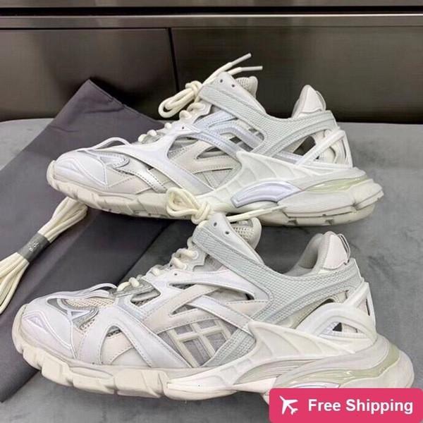 0 2 Yeni Yüksek Kalite Üçlü S. Kadınlar Erkekler Pist. Eğitmenler Erkek Lüks Tasarımcı Aksak Sneakers Sports Ayakkabı Açık