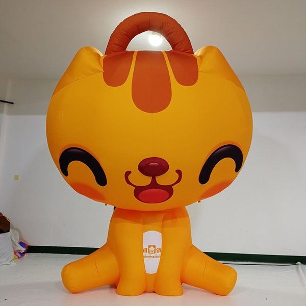 Giant Customized Inflatable lifelike model Inflatable Lucky Cat Cartoon Character for Outdoor Decoration
