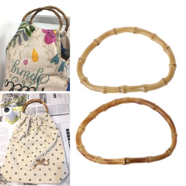1 Pc D Forme Sac bambou Poignée pour Handcrafted sac à main Sacs de rechange Pièces de bricolage Accessoires Bonne 13cm Qualité