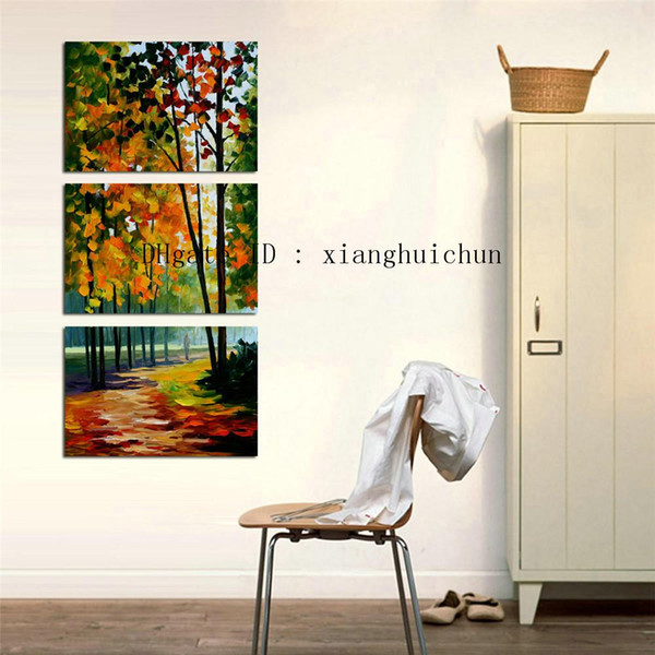 Leonid Afremov: Forest Road - 1,3 Stücke Home Decor HD gedruckt moderne Kunst Malerei auf Leinwand (ungerahmt / gerahmt)