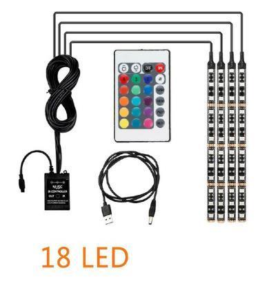 USB / 4PCS / 18LED / 72LED