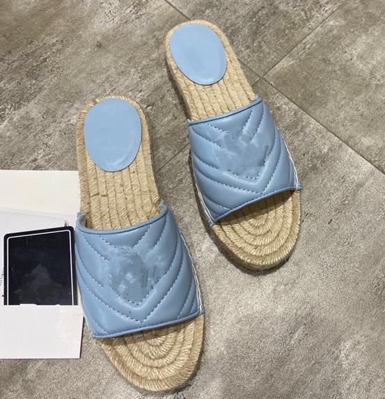 GG Blue slipper