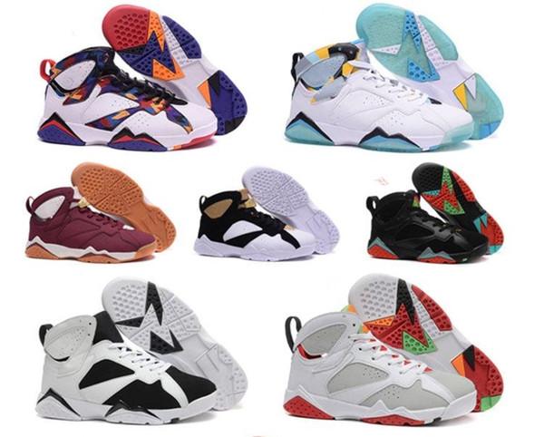 2018 7S niños diseñador zapatillas de baloncesto para niños niñas zapatos deportivos al aire libre niños zapatos para correr de alta calidad tamaño 28-35