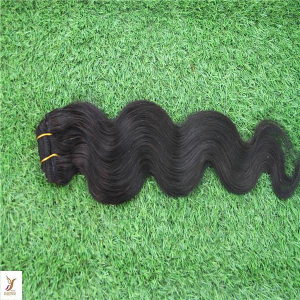 Jet Black Color Brazilian Virgin Hair Weave Bundles 1pcs Body Wave 100% Human Hair Extensions Remy Hair