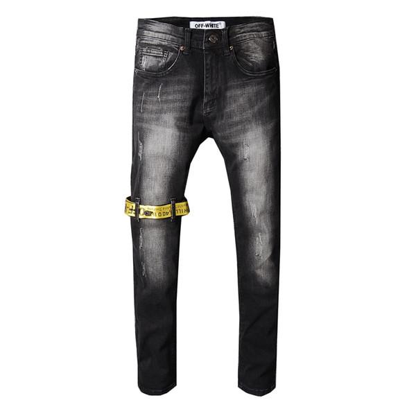Mens jeans designer jeans Mens Denim Gerade Biker Skinny Jeans Freizeithose Cowboy Berühmte Marke Reißverschluss Designer Heißer Verkauf