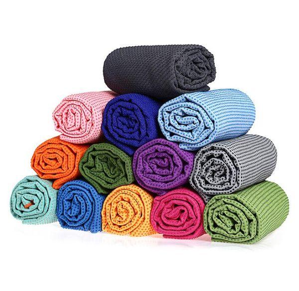 Cheap erercise Pilatos yoga cobertores fitness ao ar livre antiderrapante tapete de cobre antiderrapante pontos silicone Yoga Toalhas Mat exteriores esteiras Garden Beach