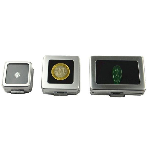 Small Loose Diamond or Gem Stone Display Metal Box Case Storage Container Jewelry Stones Holder Gemstone Organizer ZC0238