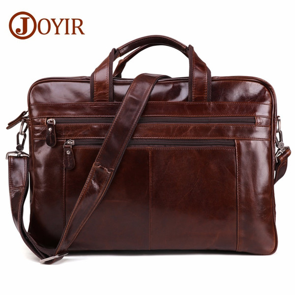 Men's Genuine mens Leather Shoulder Travel Laptop messenger Handbags Bags Business Computer wholesale designer briefcases men Factory Best