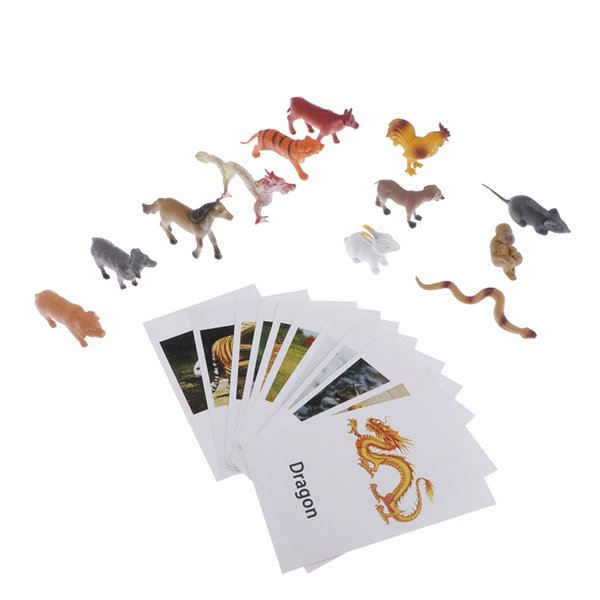 top popular Education Toys Chinese Zodiac Model Naming Cards For Montessori Education 2020