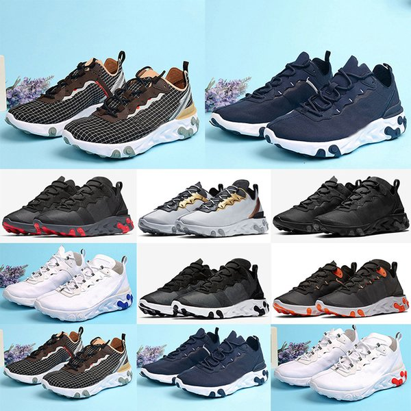 2019 Chaussure Best Mens Trainers React Element 55 Undercover X Upcoming Designer Sports Shoes Men Running Sneakers Shoes Size 40-45