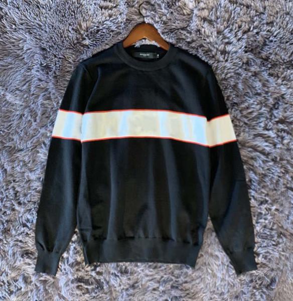 Gris negro de diseño suéteres para hombre de la moda larga carta suéteres de manga de impresión Pareja de otoño sueltas suéteres del suéter de lujo para las mujeres B101467Q