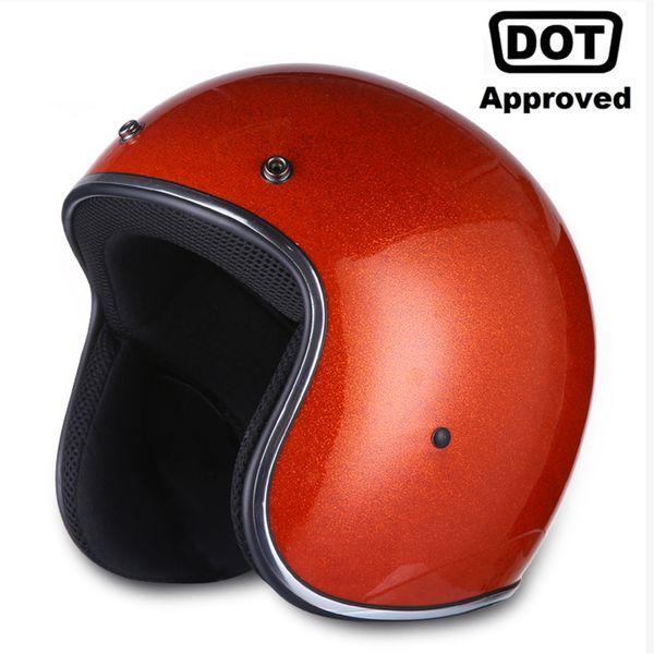 AMZ Retro Motorcycle Helmet Vintage Half Face Moto Helmet Casco Casque Old School Casco Scooter Helmets With DOT Certification