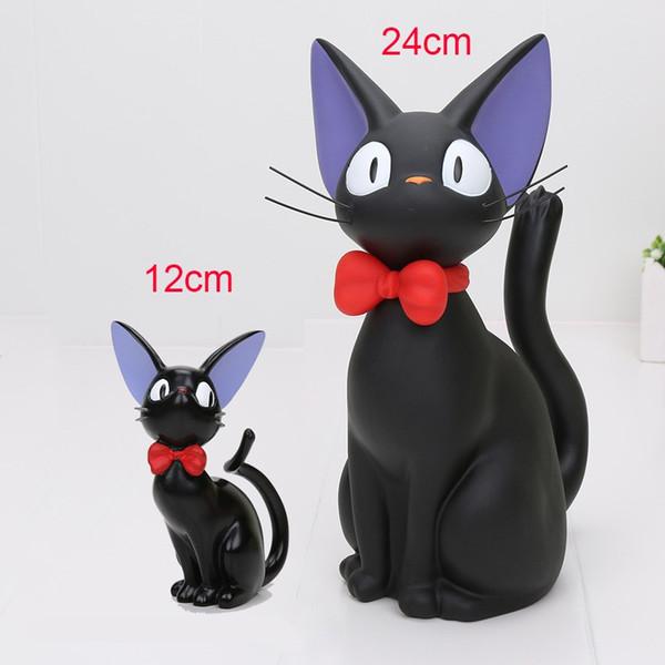 12cm/24cm Studio Ghibli Miyazaki Kiki's Delivery Service Cat PVC Action Figure Toys Piggy Bank Money Box Model Toy