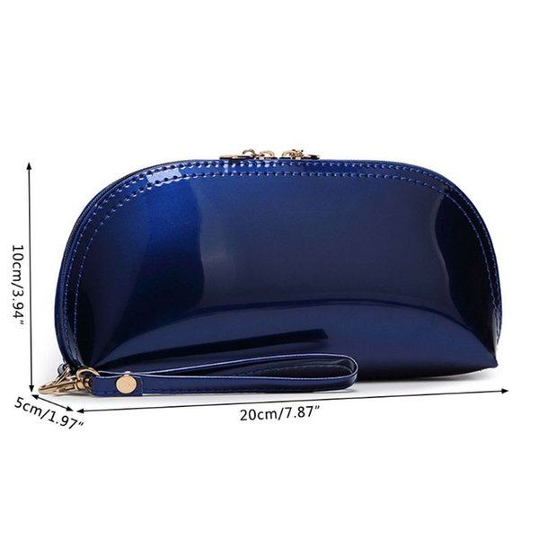 1ef5516420f1 Дорожные косметички Кожаный чехол для браслета Молния для макияжа Сумка  Сумочка-органайзер