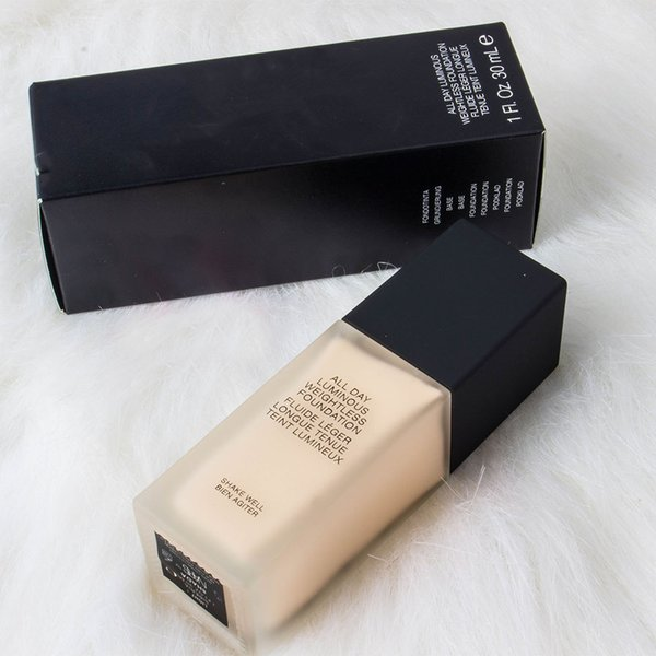top popular New Makeup All Day Luminous Weightless Foundation Cosmetics 1FI. Oz. 30mL 6 Colors Makeup Base DHL Free 2021