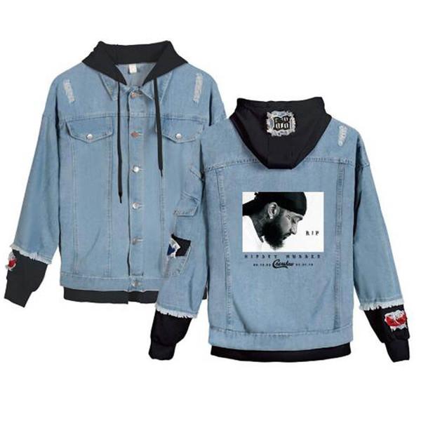 Nipsey Hussle Mulheres / homens Jeans Jean Costura Casual Harajuku hoodies jean desgaste fãs Hoodies moda Jaqueta Roupas Casaco