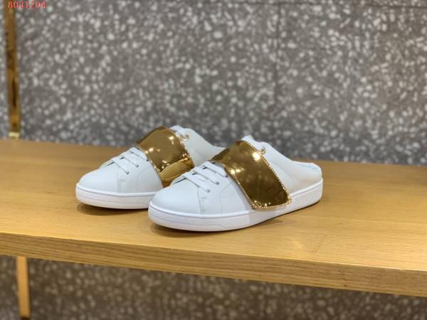 Scarpe nuove primavera / estate 2019, pantofole per il tempo libero piccole scarpe bianche, taglia 34-40, con una gamma completa di imballaggi
