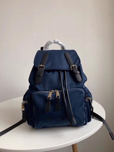Verano 2019 nuevas mochilas de moda de nylon simple de estilo europeo con transporte global gratuito de gran capacidad práctica