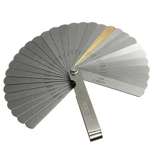 best selling 32 Blades Feeler Gauge Metric Filler 0.04-0.88mm Thickness Gage For Measurment Tool Freeshipping