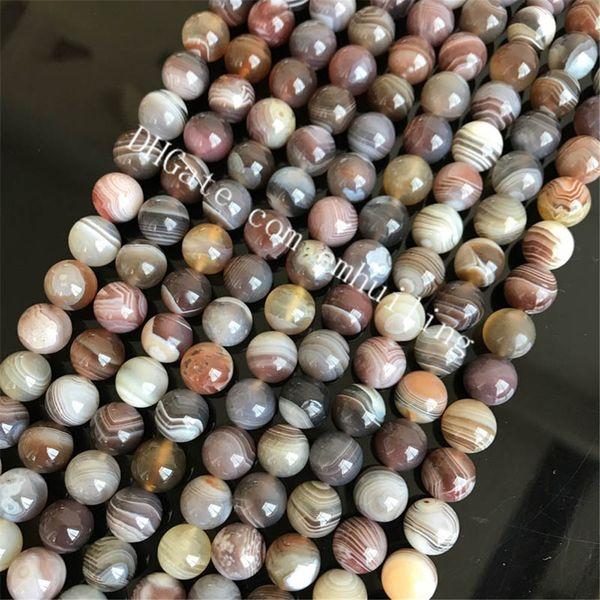 10 Stränge natürlichen persischen Golf Lace Achat Streifen Onyx Edelstein lose Perlen Botswanna Achat gebohrt Loch Charm Perlen 5mm 6mm 8mm 10mm 12mm