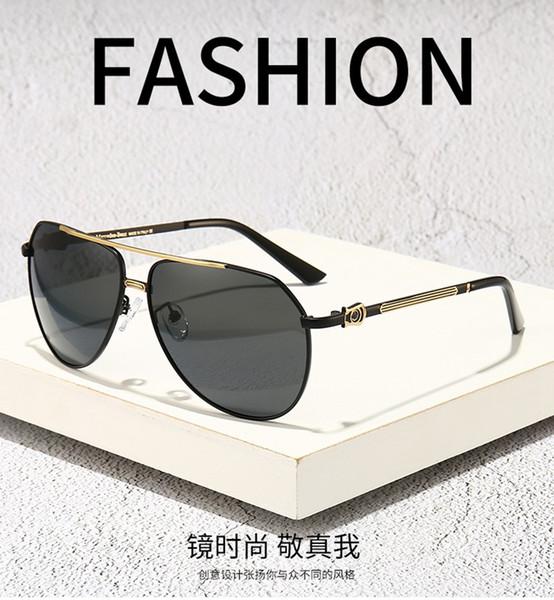 Gafas de sol MercedesBenz piloto aviador lentes polarizadas de lujo del diseñador deporte de la manera Marca de la vendimia para los hombres de las mujeres para hombre para mujer con la caja 840