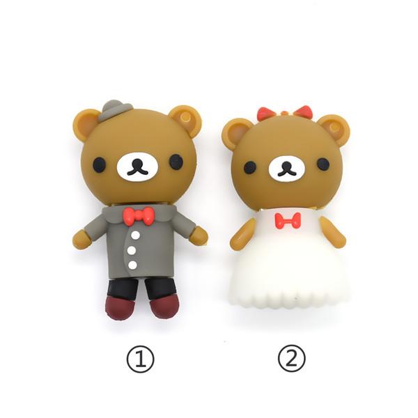 New Pen Cartoon Wedding Bear 4gb/8gb/16gb/32gb/64g Usb Flash Drive Memory Stick Usb2.0 For Lover Gift U Disk