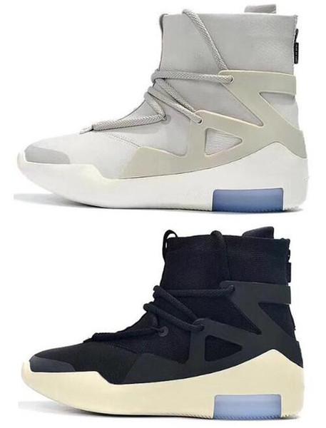 New Fear Of God 1 FOG Boots Light Bone Black Sail Uomo Scarpe da basket Bianco Grigio Nero Giallo Sneakers sportive con scatola