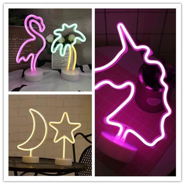 Cactus usb bateria de carregamento led neon luzes decorativas neon sign light wallecor para festa de aniversário de natal sala de crianças sala de estar rosa