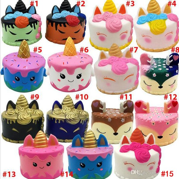 Squishy Toys squishies Rabbit tiger unicorn cake panda pineapple bear cake mermaid Slow Rising Squeeze Cute Cell Phone Strap gift for kid to