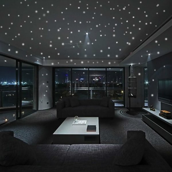 407pcs/set Glow Luminous Dots Wall Stickers Wall Decor Glow In The Dark Night Home Decal For Kid Room Dots Stickers
