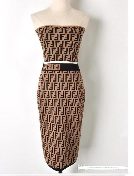 19ss hohe qualität neue mode runway dress vestidos designer anzug set frauen aus der schulter + rock casual dress