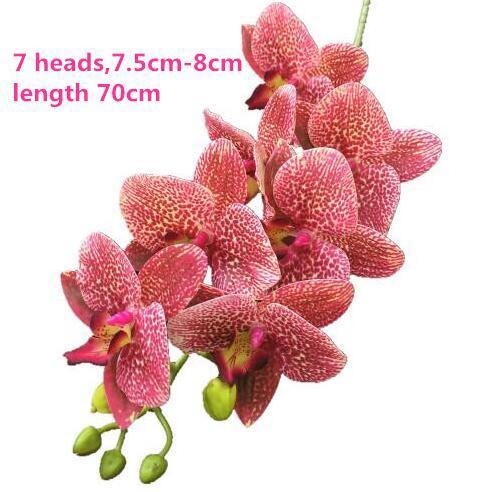 70cm 장미 레드 난초