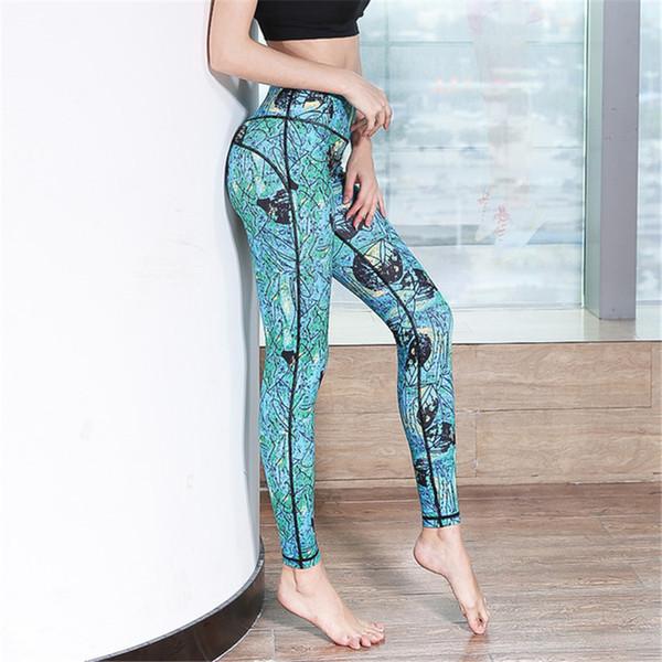 Womens Sexy Cintura Alta Calças de Yoga Sports Leggings Treino de Equitação Calças de Fitness Ginásio de Dança de Secagem Rápida Elastic Collants Skinny Pants
