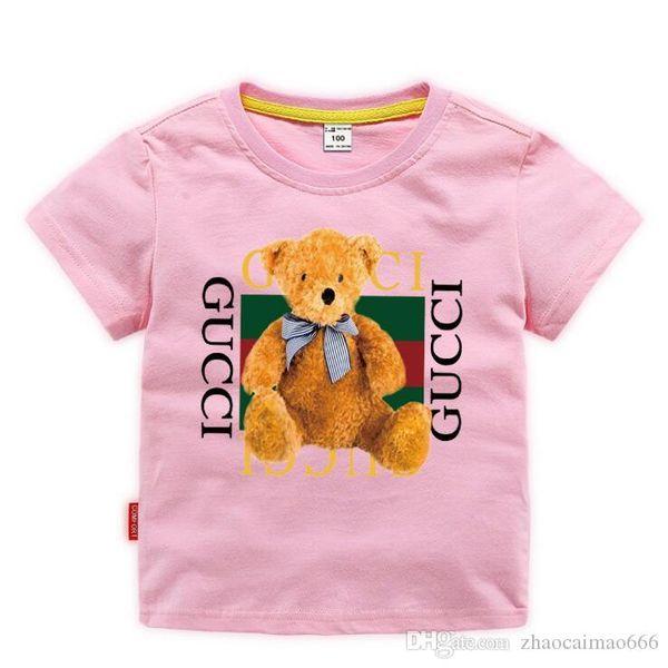 best selling 2019 Fashion Kids 2-9 years t Shirt Children Lapel Short sleeves T shirt Boys girl Tops Clothing Brands Solid Tees Girls Cotton shirts BNCS