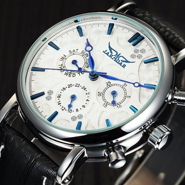 2018 Jaragar Elegant Design Genuine Leather Strap Men Mechanical Wrist Watch Mens Watches Luxury Men Automatic Clock J190614