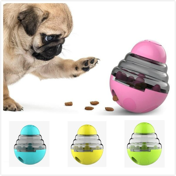top popular Interactive Pet Dog Cat Feeder Pet Food Treat Ball Bowl Toy Dog Shaking Leakage Food Container Puppy Cat Slow Feed Pet Tumbler Feeder 2021