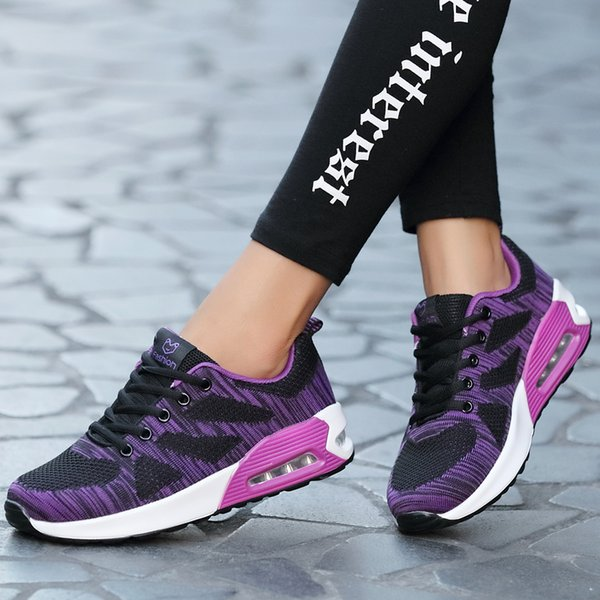 Sport Shoes Women Breathable Air Cushioning Sneakers Oudoor Jogging Walking Running Shoes Comfortable Ladies Gym Trainers Shoes