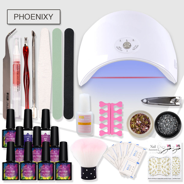 Maniküre Set Nail Art Set 36W UV LED Lampe Trockner mit 8 Farben Gel Nagellack Art Tools Gel Lack Maniküre Tools Kit