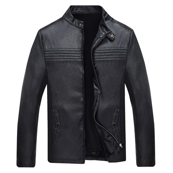 Yeni PU ceketler Erkekler Kış Sıcak Satış Dar Kesim Katı Erkek PU ceketler Kalite Sıcak Kalın WINDBREAKER Dış Giyim Erkek Palto