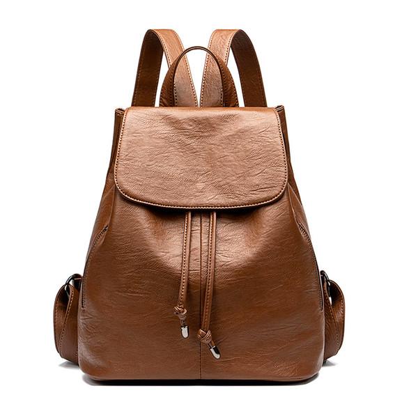 2019 marque de mode designer de luxe sac à dos en cuir véritable sac à dos pour femmes sac a dos femme bookbag mochilas grand espace livraison rapide
