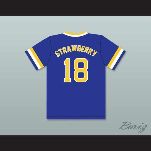 Discount Darryl Strawberry 18 Crenshaw High School Cougars Blue Baseball Jersey Mens Stitched Jerseys Shirts Size S-XXXL Free Shipping