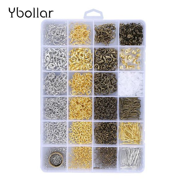 1 Box Jewelry Finding Kit Jump Rings/Lobster Clasps/Crimp Beads/Ear Hooks/Screw Eye Pins/Pliers/Beading Wires Jewelry Tool Sets